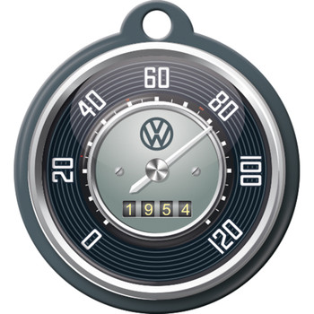 Volkswagen Campervan Tacho Metal Round Key Ring