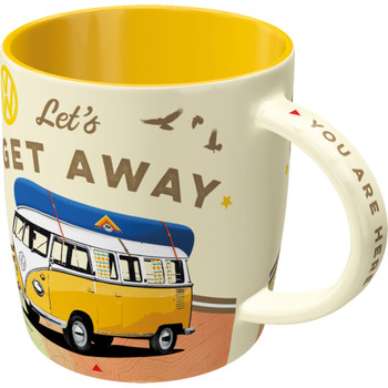 Volkswagen Campervan Lets Get Away Mug