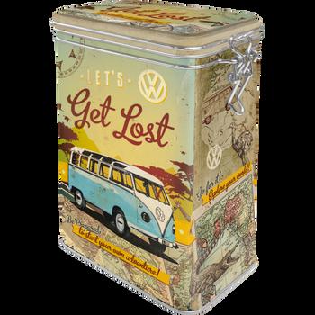 Volkswagen Campervan Get Lost Clip Top Box Tin