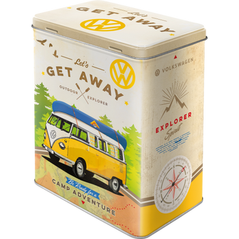 Volkswagen Campervan Lets Get Away Tin Box Large30136