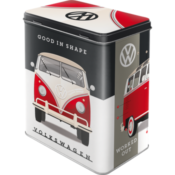 Volkswagen Campervan Good In Shape Tin Box Large