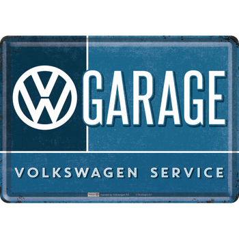 Volkswagen Campervan VW Garage Metal Card