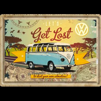 Volkswagen Campervan Get Lost Metal Card