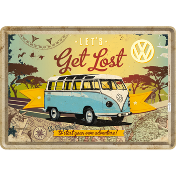Volkswagen Campervan Get Lost Metal Card