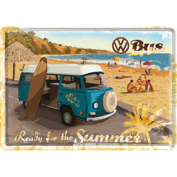 Volkswagen Bay Campervan Ready for the Summer Metal Card