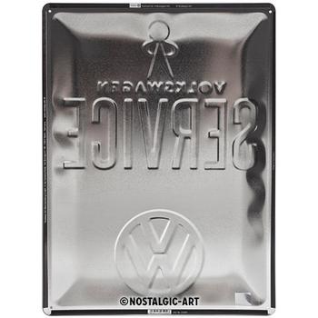Volkswagen Campervan VW Service Embossed Metal Tin Sign