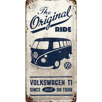 Volkswagen Campervan The Original Ride Embossed Metal Tin Sign