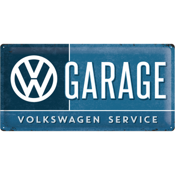 Volkswagen Campervan VW Garage Embossed Metal Tin Sign