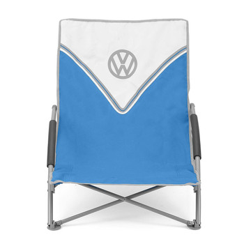 Volkswagen Blue Campervan Folding Low Camping Chair