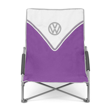 Volkswagen Purple Campervan Folding Low Camping Chair