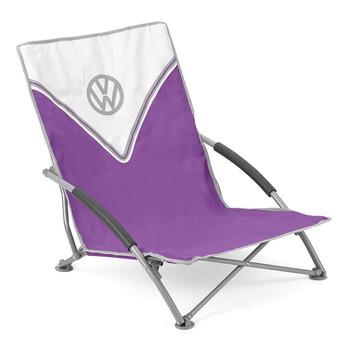 Volkswagen Purple Campervan Folding Low Camping Chair