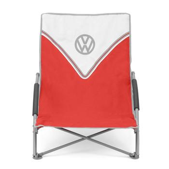 Volkswagen Red Campervan Folding Low Camping Chair