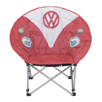 Volkswagen Red Campervan Moon Camping Chair
