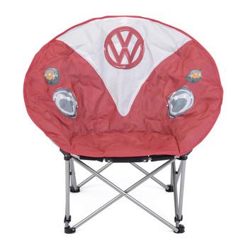 Volkswagen Red Campervan Moon Camping Chair
