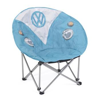 Volkswagen Blue Campervan Moon Camping Chair