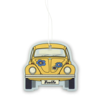 VW Beetle Air Freshener - Yellow Coconut