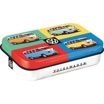 Volkswagen Campervan Quad Coloured Metal Mint XL Box