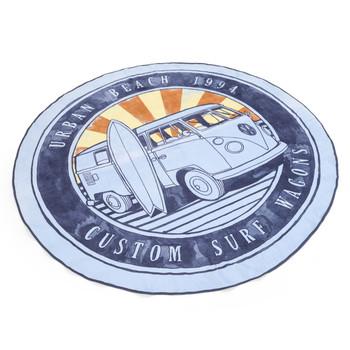Volkswagen Campervan Wagon Round Beach Towel