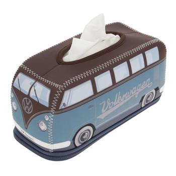 VW Brown & Petrol Blue Campervan Neoprene Tissue Box Holder