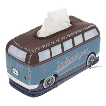 VW Brown & Petrol Blue Campervan Neoprene Tissue Box Holder