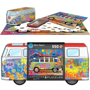 Volkswagen 550 Piece Campervan Wave Hopper Puzzle Tin