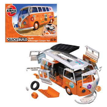 Airfix Quick Build Volkswagen Orange Surfin Campervan