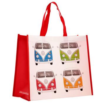 Volkswagen Quad Coloured Campervan Reusable Shopper Bag
