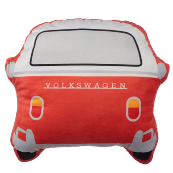 Volkswagen Red Campervan Shaped Cushion