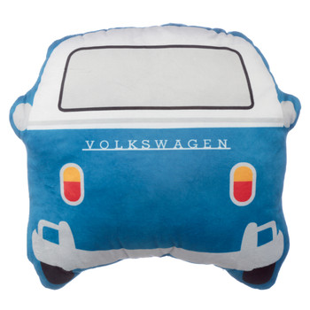 Volkswagen Blue Campervan Shaped Cushion