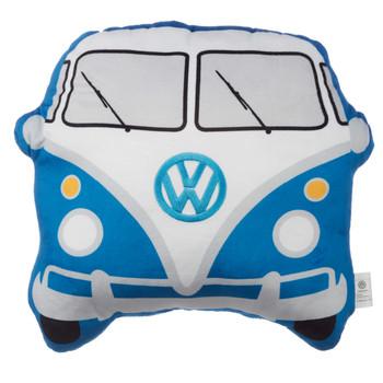Volkswagen Blue Campervan Shaped Cushion