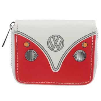 Volkswagen Red Campervan Zipper Purse