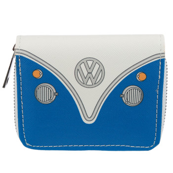 Volkswagen Blue Campervan Zipper Purse