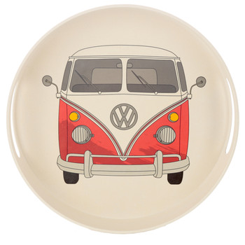 Volkswagen Red Campervan Bamboo Drinks Tray
