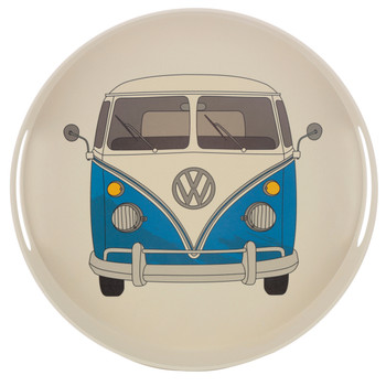 Volkswagen Blue Campervan Bamboo Drinks Tray