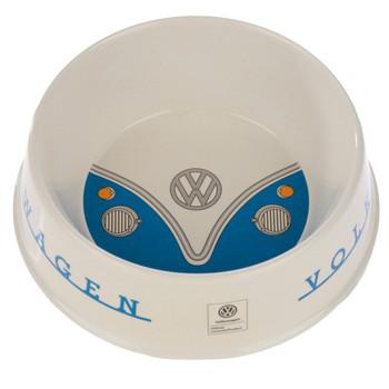 Volkswagen Blue Campervan Bamboo Pet Bowl