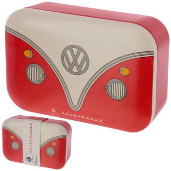 Volkswagen Red Campervan Bamboo Lunch Box
