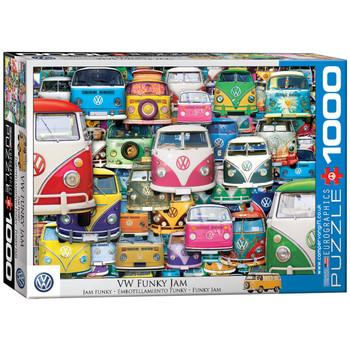 Volkswagen Funky Jam 1000 Piece Campervan Puzzle
