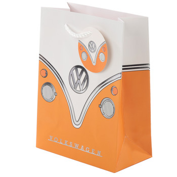 Volkswagen Orange Campervan Small Gift Bag
