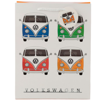 Volkswagen Quad Coloured Campervan Medium Gift Bag