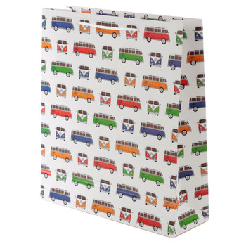 Volkswagen Multi Coloured Campervan Large Gift Bag