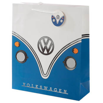 Volkswagen Blue Campervan Large Gift Bag