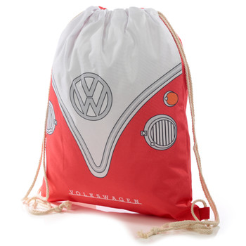 Volkswagen Red Campervan Drawstring Bag