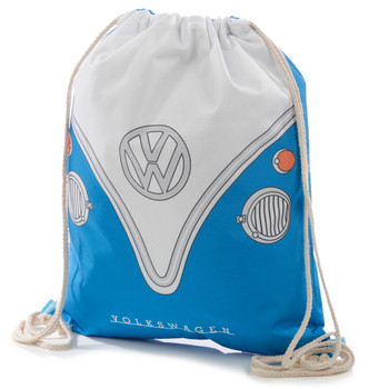 Volkswagen Blue Campervan Drawstring Bag