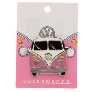 Volkswagen Pink Campervan Collectable Enamel Pin Badge