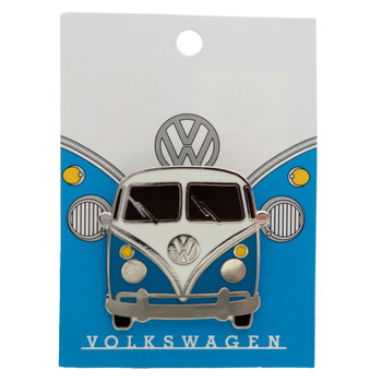 Volkswagen Blue Campervan Collectable Enamel Pin Badge