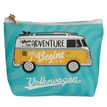 Volkswagen Campervan Adventure Begins PVC Coin Purse