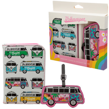 Volkswagen Campervan Summer Love Passport & Luggage Tag Set