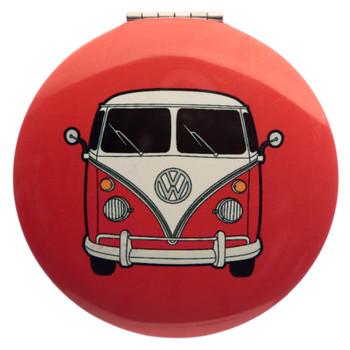 Volkswagen Red Campervan Compact Mirror