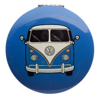 Volkswagen Blue Campervan Compact Mirror