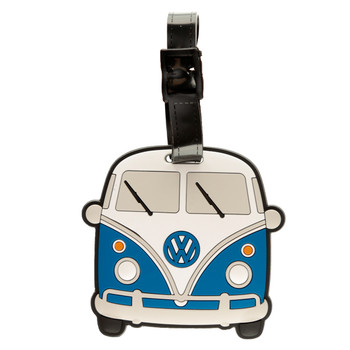 Volkswagen Blue Campervan PVC Luggage Tag
